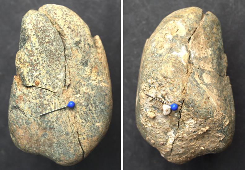 amphibolite cobble shock spallation fracture chiemgau impact
