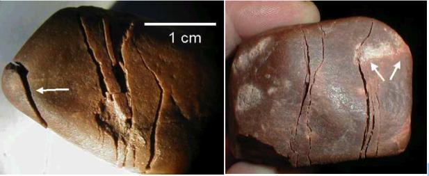 quartzite cobble shock spallation fracture Azuara Rubielos de la Cérida impact structure