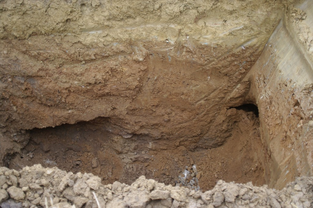 open holes encountered in excavation #2 soil liquefaction Chiemgau impact