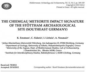 Titel MAA-Artikel zur archäologischen Ausgrabung Chieming-Stöttham