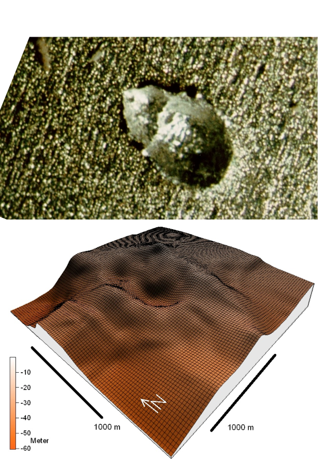 comparison of dual crater formation in aluminium and in the Chiemgau impact event