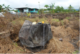 earthquake Samoa islands tsunami-deposited block