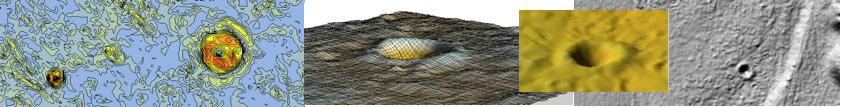 Digital Terrain Model DGM 1 - Chiemgau impact meteorite craters